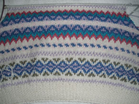 Fair Isle Knitting Wrong Side : Fair isle knitting in cotton gippsland granny