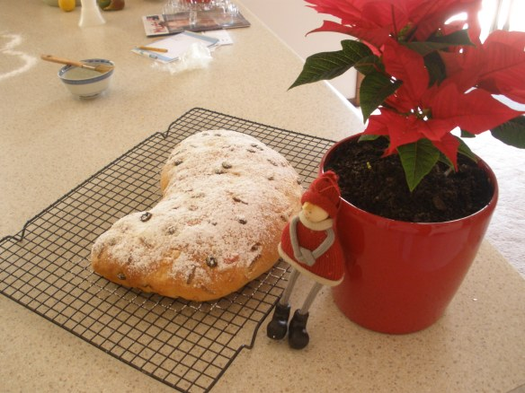 Stollen fresh from the oven