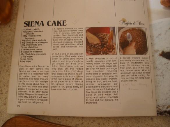 Sienna Cake recipe