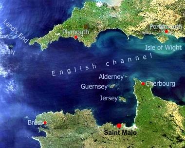 location of Saint Malo