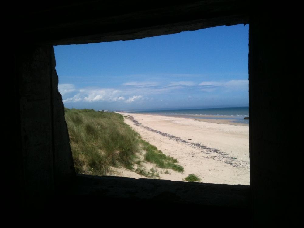 utah beach from gun emplacement