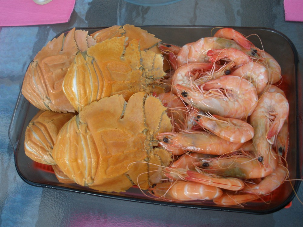 Seafood for dinner
