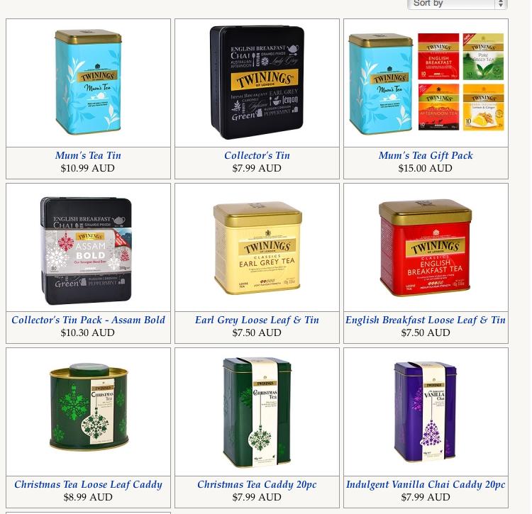 Twinings tins website
