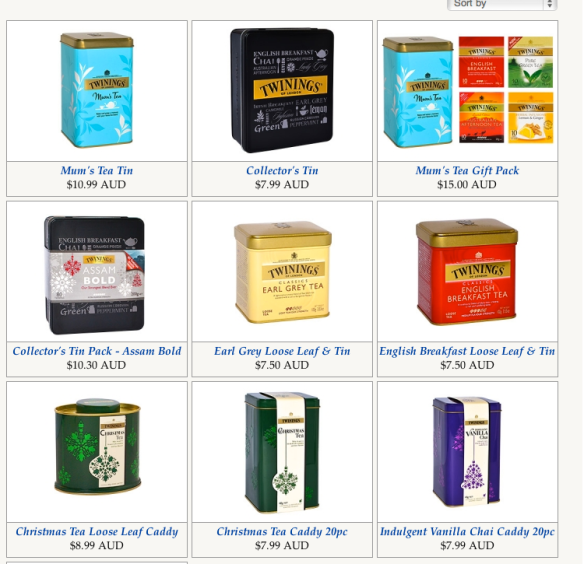 Twinings tins website