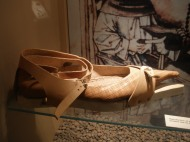 replica of one of the many shoes found