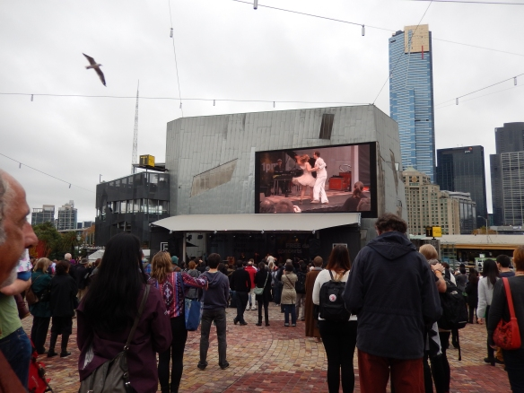 live entertainment, big screen too