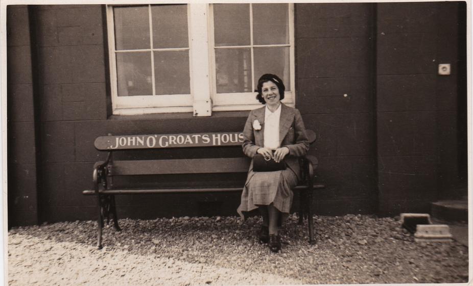 mum at John o'Groats