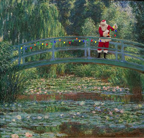 Monet Santa