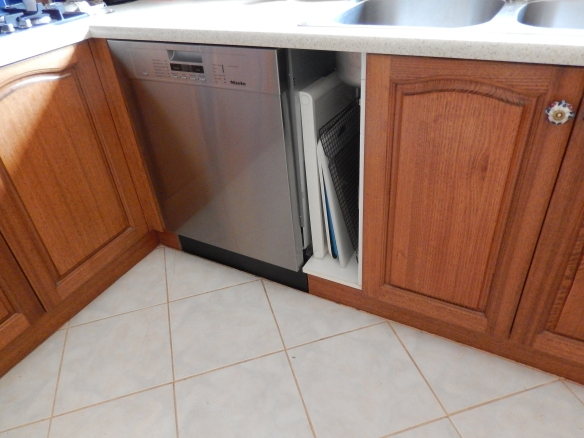 placed dishwasher