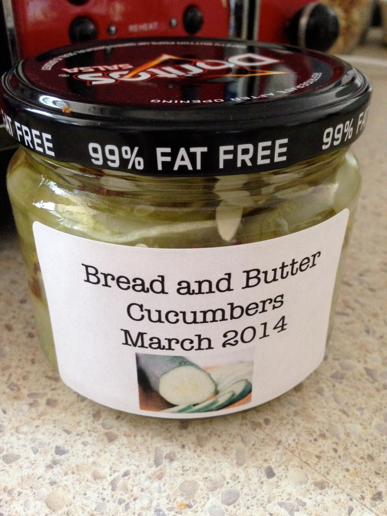 bottled cucumbers
