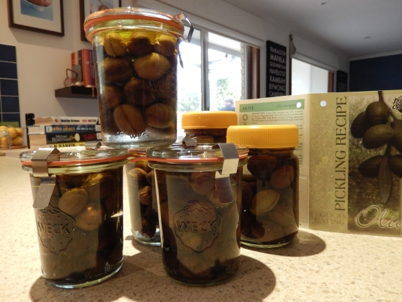 bottled olives