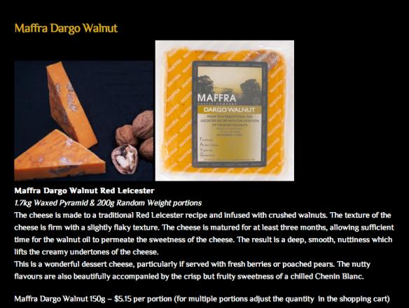 Dargo walnut cheese