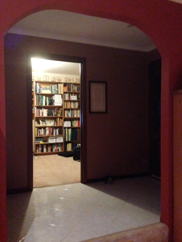 hallway into study