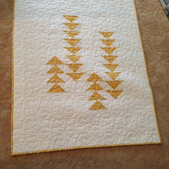 flying geese cot quilt