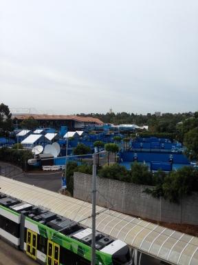 Australian Open outside courts