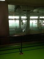 Practice nets indoors for when it is wet outdoors