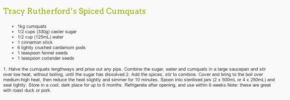spiced cumquats