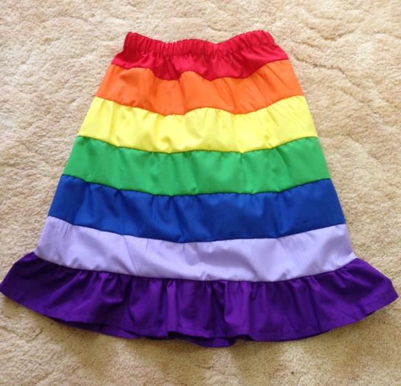 rainbow skirtt