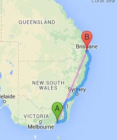Metung to Brisbane
