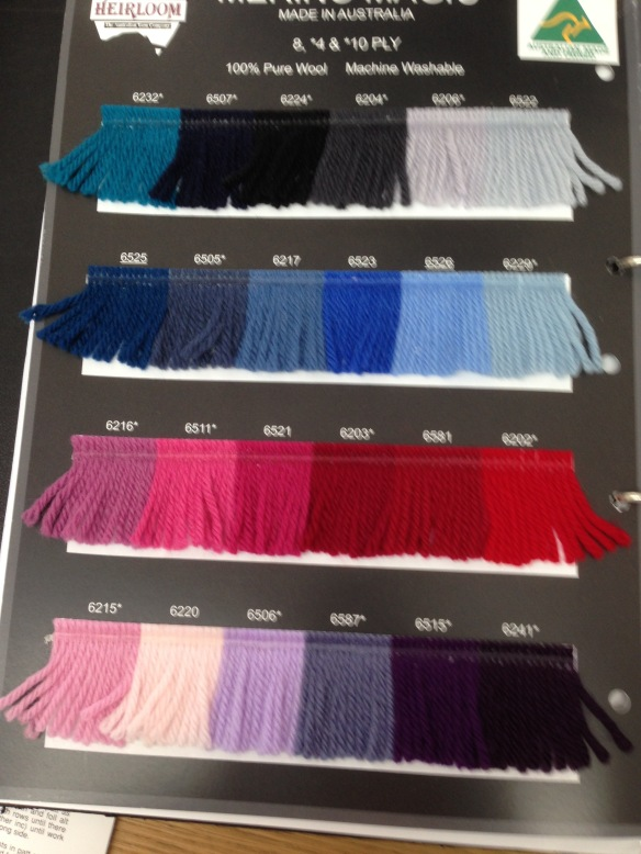 wool chart