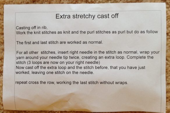 stretchy cast off