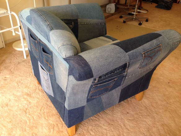 denim chair