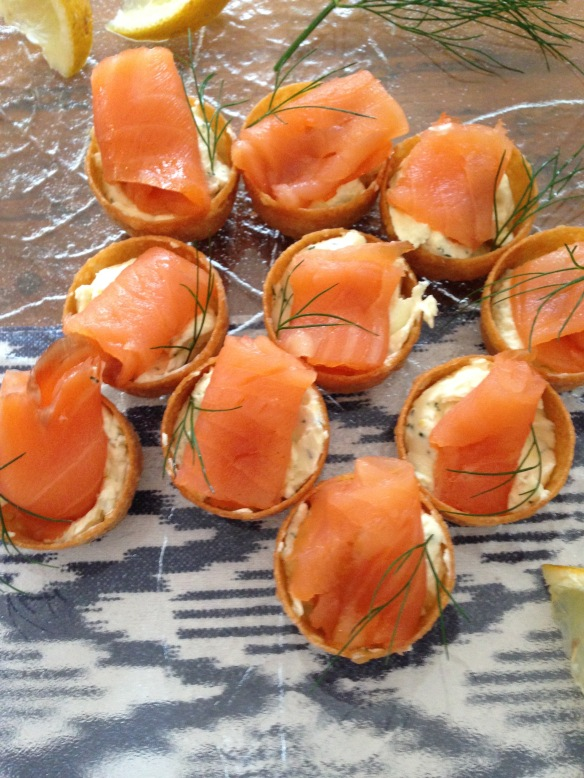 smoked salmon nibbles