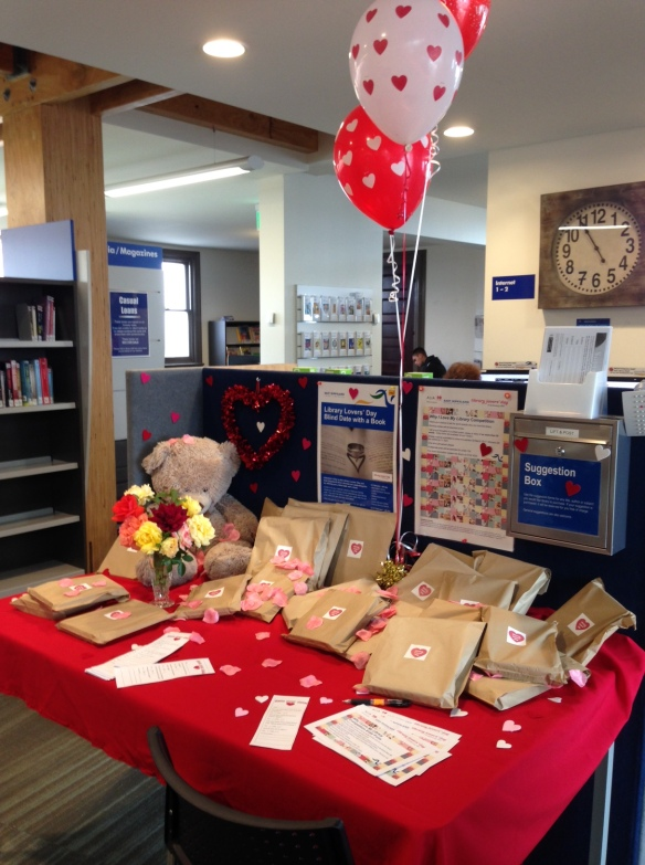 library valentines display